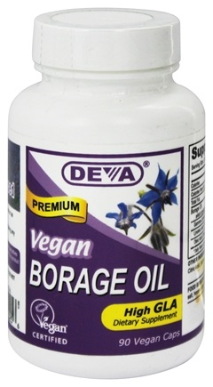 Deva Nutrition - Vegan Borage Oil Omega-6 High GLA - 90 Vegetarian Capsules