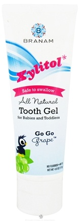 DROPPED: Branam Oral Health - Baby Tooth Gel for Babies All-Natural with Xylitol Go Go Grape - 4 oz. CLEARANCE PRICED