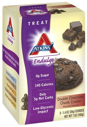 DROPPED: Atkins Nutritionals Inc. - Endulge Cookies Double Chocolate Chunk - 5 Pack