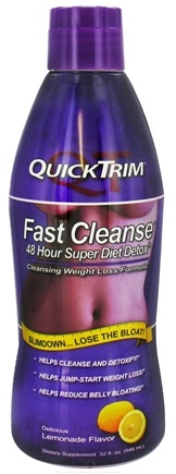 DROPPED: Kardashian - QuickTrim Fast Cleanse 48 Hour Super Diet Detox Weight Loss Formula Lemonade - 32 oz.