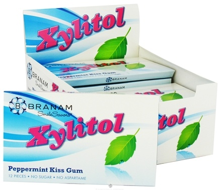 DROPPED: Branam Oral Health - SmileSavors Xylitol Gum Peppermint Kiss - 12 Piece(s)