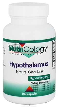 DROPPED: Nutricology - Hypothalamus Natural Glandular - 100 Capsules CLEARANCE PRICED
