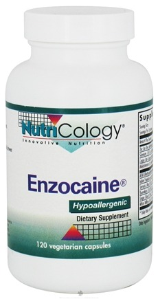 DROPPED: Nutricology - Enzocaine - 120 Vegetarian Capsules CLEARANCE PRICED