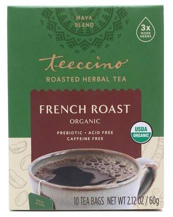 Teeccino - Chicory Herbal Tea Organic French Roast - 10 Tea Bags
