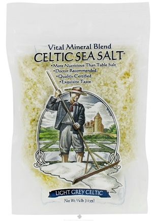 DROPPED: Selina Naturally - Celtic Sea Salt Resealable Bag Light Grey Course - 4 oz. CLEARANCE PRICED