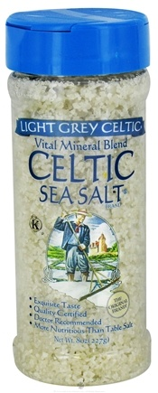 DROPPED: Selina Naturally - Celtic Sea Salt Shaker Jar Light Grey Course - 8 oz. CLEARANCE PRICED
