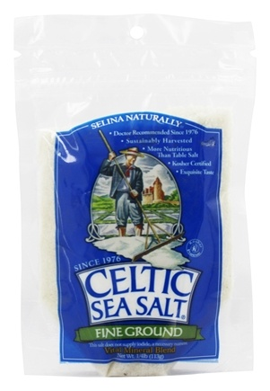 Selina Naturally - Celtic Sea Salt Resealable Bag Fine Ground - 4 oz.