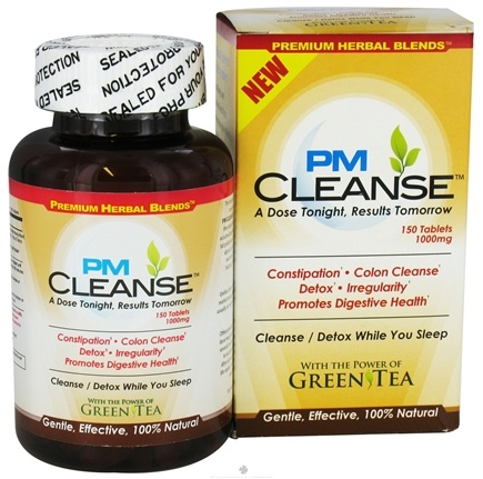 DROPPED: PHB Herbs - PM Cleanse 1000 mg. - 150 Tablets