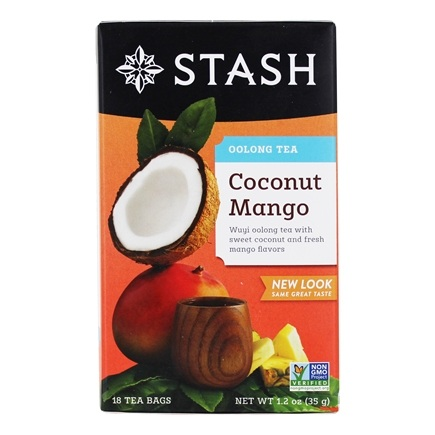 Stash Tea - Premium Coconut Mango Oolong Tea with Wuyi Oolong - 18 Tea Bags