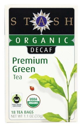Stash Tea - Premium Organic Decaf Green Tea - 18 Tea Bags