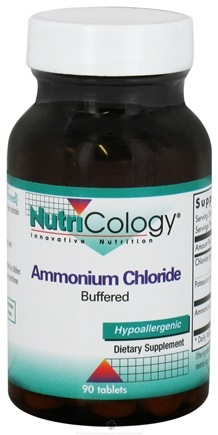 DROPPED: Nutricology - Ammonium Chloride Buffered - 90 Tablets CLEARANCE PRICED
