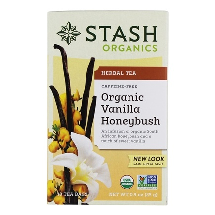 Stash Tea - Premium Organic Caffeine Free Herbal Tea Honeybush Vanilla - 18 Tea Bags