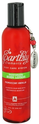 DROPPED: Earthly Elements - Body Lotion Moisturizing Moroccan Vanilla - 8 oz. CLEARANCE PRICED