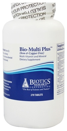 Biotics Research - Bio-Multi Plus Multi-Vitamin and Mineral Supplement Iron & Copper Free - 270 Tablets