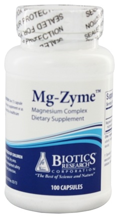 Biotics Research - Mg-Zyme Magnesium Complex - 100 Capsules
