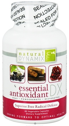 DROPPED: Natural Dynamix - Essential Antioxidant DX - 60 Vegetarian Capsules CLEARANCE PRICED