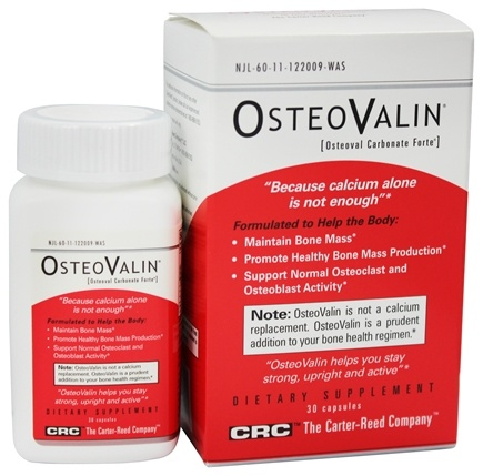 DROPPED: Carter Reed Company - OsteoValin Osteoval Carbonate Forte - 30 Capsules