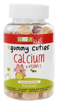 Natural Dynamix - Gummy Cuties Kids Calcium with Vitamin D - 60 Gummies