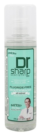 DROPPED: Dr. Sharp Dentistry - Natural Mouthwash Fluoride-Free Fresh Mint - 11.8 oz. CLEARANCE PRICED