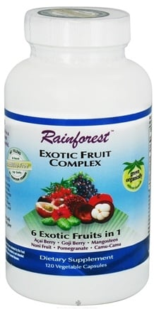 DROPPED: Rainforest - Exotic Fruit Complex - 120 Vegetarian Capsules