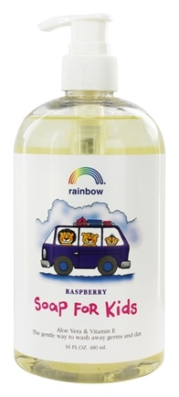 Rainbow Research - Kid's Soap Hand and Body Aloe Vera & Vitamin E Raspberry - 16 oz.