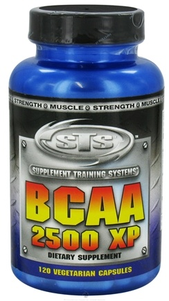 DROPPED: Supplement Training Systems - BCAA 2500 XP - 120 Vegetarian Capsules CLEARANCE PRICED