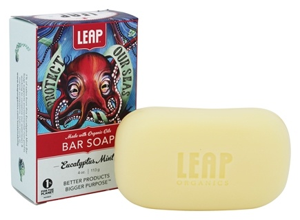 LEAP Organics - Bar Soap Shea Butter with Eucalyptus, Mint & Anise - 4 oz.