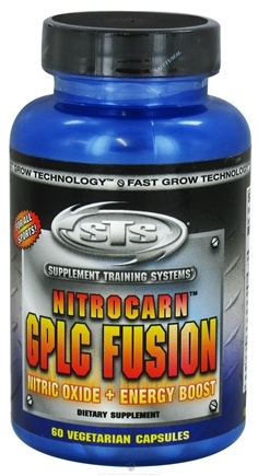 DROPPED: Supplement Training Systems - Nitrocarn GPLC Fusion Nitric Oxide Plus Energy Boost - 60 Vegetarian Capsules CLEARANCE PRICED