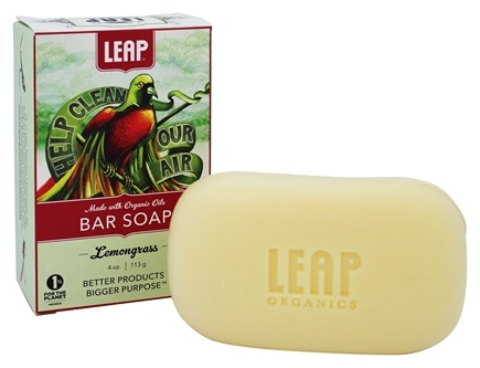 LEAP Organics - Bar Soap Shea Butter with Lemongrass, Orange & Lime - 4 oz.