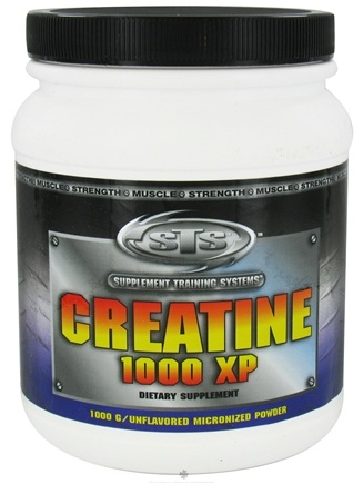 DROPPED: Supplement Training Systems - Creatine 1000 XP Micronized Powder Unflavored - 1000 Grams CLEARANCE PRICED