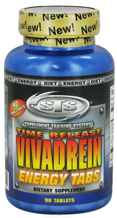 DROPPED: Supplement Training Systems - Vivadrein Energy Tabs Time Release - 90 Tablets CLEARANCE PRICED