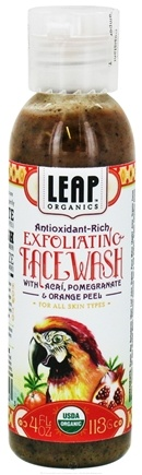 DROPPED: LEAP Organics - Exfoliating Face Wash For All Skin Types Antioxidant-Rich - 4 oz. CLEARANCE PRICED