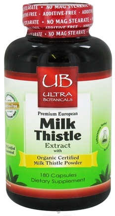 DROPPED: Ultra Botanicals - Premium European Milk Thistle Extract - 180 Capsules