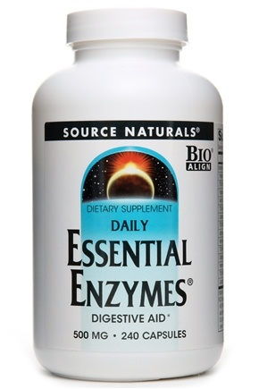 Source Naturals - Daily Essential Enzymes 500 mg. - 240 Capsules