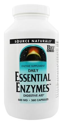 Source Naturals - Daily Essential Enzymes 500 mg. - 360 Capsules