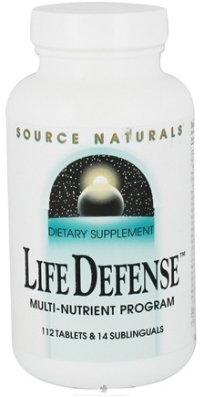 DROPPED: Source Naturals - Life Defense Multi-Nutrient Program 112 Tablets & 14 Sublinguals - CLEARANCE PRICED