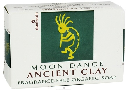DROPPED: Zion Health - Ancient Clay Organic Bar Soap Moon Dance Fragrance-Free - 6 oz. CLEARANCE PRICED