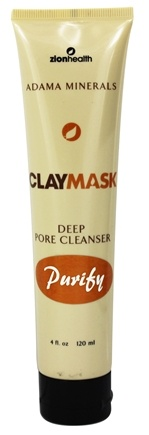 Zion Health - Clay Mask Magnetic Clay Deep Pore Cleanser - 4 oz.