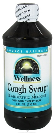 DROPPED: Source Naturals - Wellness Cough Syrup With Wild Cherry Bark - 8 oz.