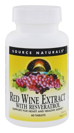 Source Naturals - Red Wine Extract with Resveratrol - 60 Tablets