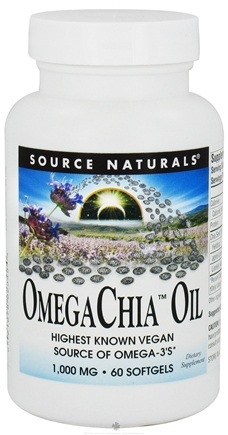 DROPPED: Source Naturals - OmegaChia Oil 1000 mg. - 60 Softgels