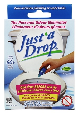 Just A Drop - Personal Odor Eliminator Bathroom Odor Control Eucalyptus - 0.5 oz.
