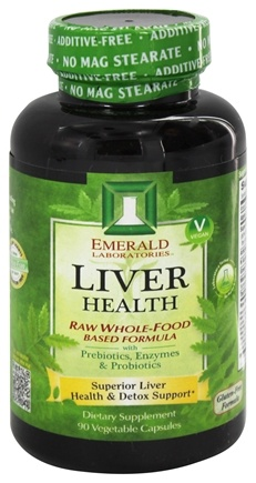 Emerald Labs - Liver Health Raw Whole-Food Based Formula - 90 Vegetarian Capsules