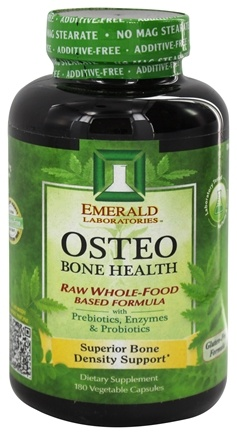 Emerald Labs - Osteo Bone Health Raw Whole-Food Based Formula - 180 Vegetarian Capsules