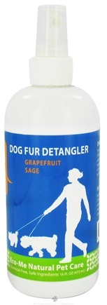 DROPPED: Eco-Me - Dog Fur Detangler Grapefruit Sage - 16 oz. CLEARANCE PRICED