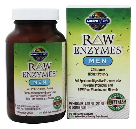 Garden of Life - RAW Enzymes Men - 90 Vegetarian Capsules