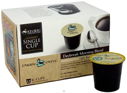 DROPPED: Keurig - Caribou Coffee Daybreak Morning Blend Light Roast 12 K-Cups - 4.87 oz. CLEARANCE PRICED