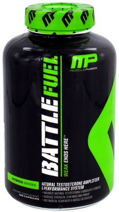 DROPPED: Muscle Pharm - Battle Fuel Natural Testosterone Amplifier & Performance System - 126 Capsules