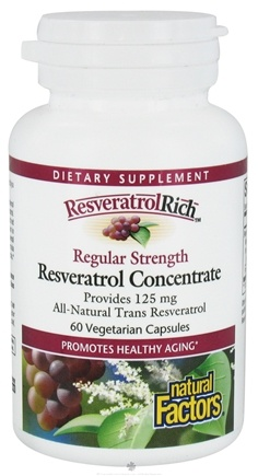DROPPED: Natural Factors - ResveratrolRich Resveratrol Concentrate Regular Strength 150 mg. - 60 Vegetarian Capsules CLEARANCE PRICED