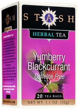 DROPPED: Stash Tea - Premium Caffeine Free Herbal Tea Yumberry Blackcurrant - 20 Tea Bags